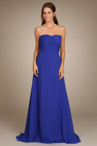Strapless long chiffon cheap bridesmaid dress MF-ny0252 - Simply Fab Dress