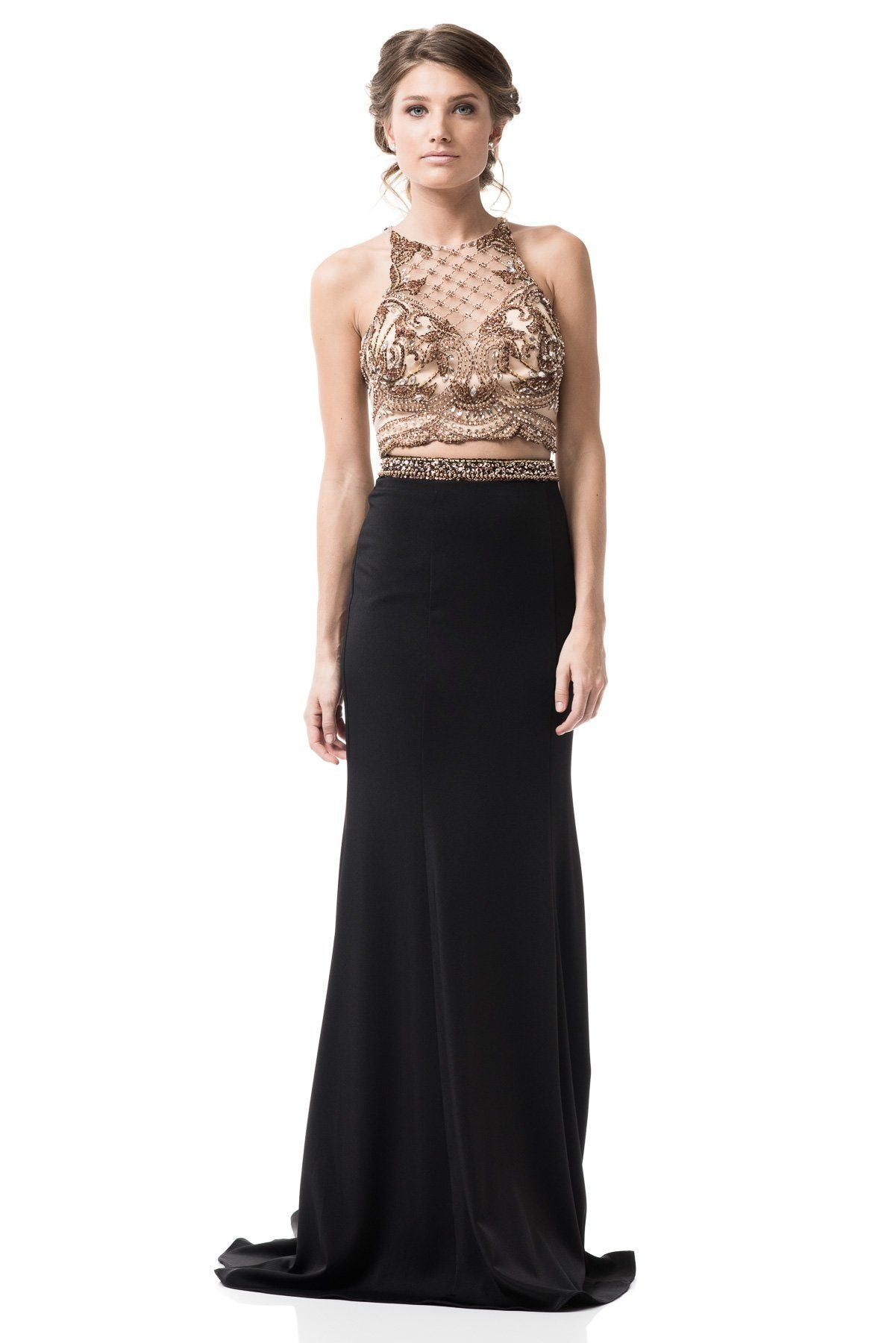 Black and Gold Short Prom Dresses