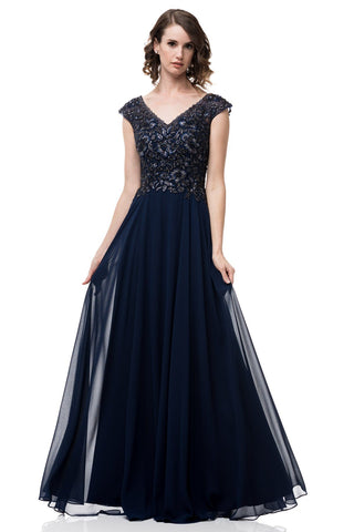 Plus size navy evening gown #PS2456-Simply Fab Dress