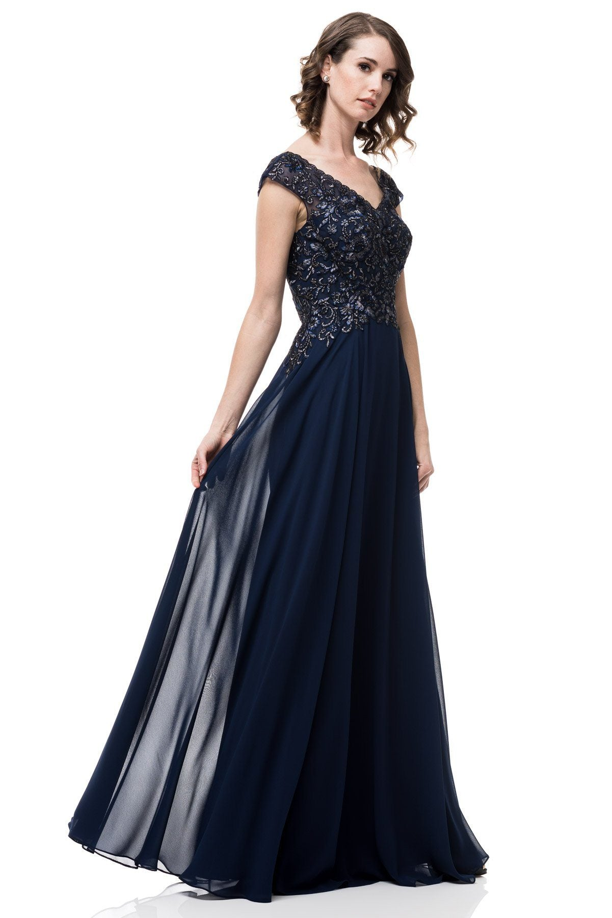 95b534789d9 ... Plus size navy evening gown  PS2456-Simply Fab Dress ...
