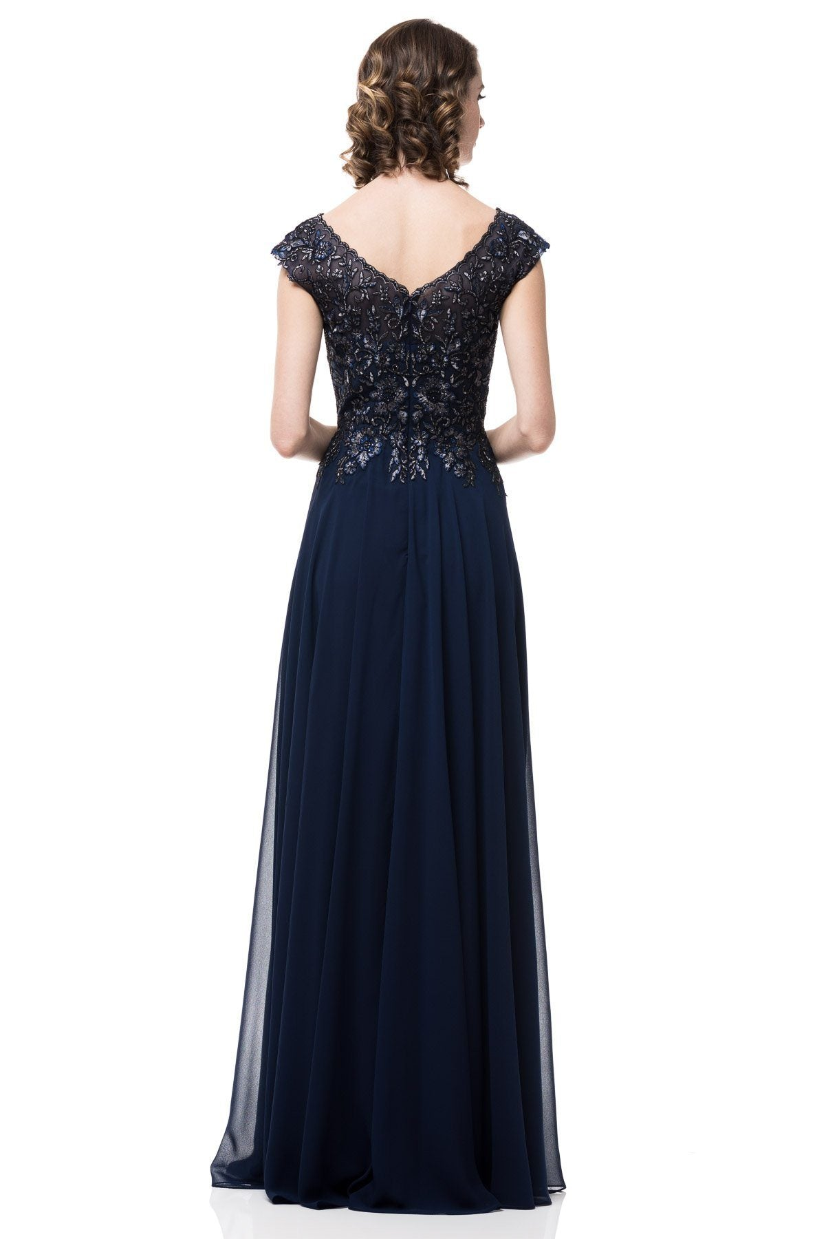 7df1ebde862 ... Plus size navy evening gown  PS2456-Simply Fab Dress