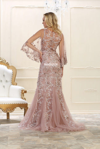 Extravagant lace prom dress RQ 7549-Simply Fab Dress