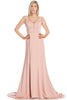 Long  fit and flare cheap bridesmaid dress BC #SKU6014 - Simply Fab Dress