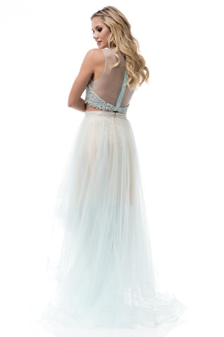 Sparkly two piece high low prom dress BC-sr160703-Simply Fab Dress