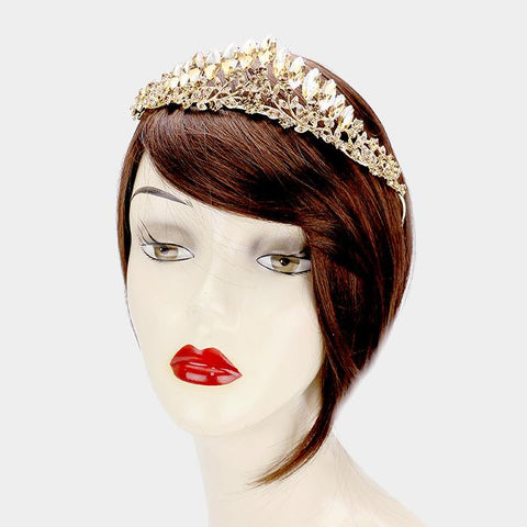 Gold Quinceanera crown [400156] TH1379-G-SA