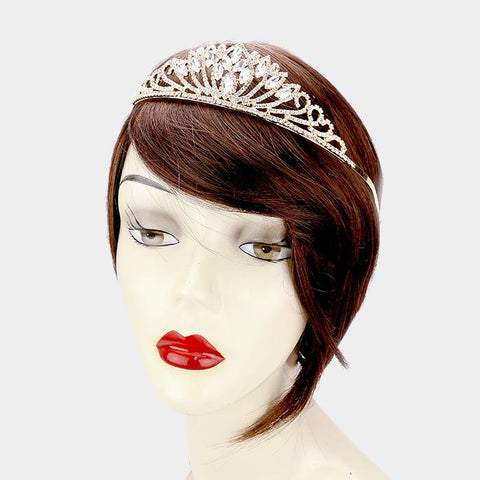 Gold quinceanera crown and tiara   [396648] TH20-40339-CL-GD