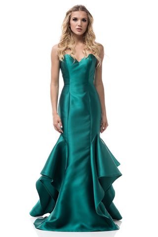 strapless sweetheart neckline satin mermaid formal dress. BC#tr26202 - Simply Fab Dress