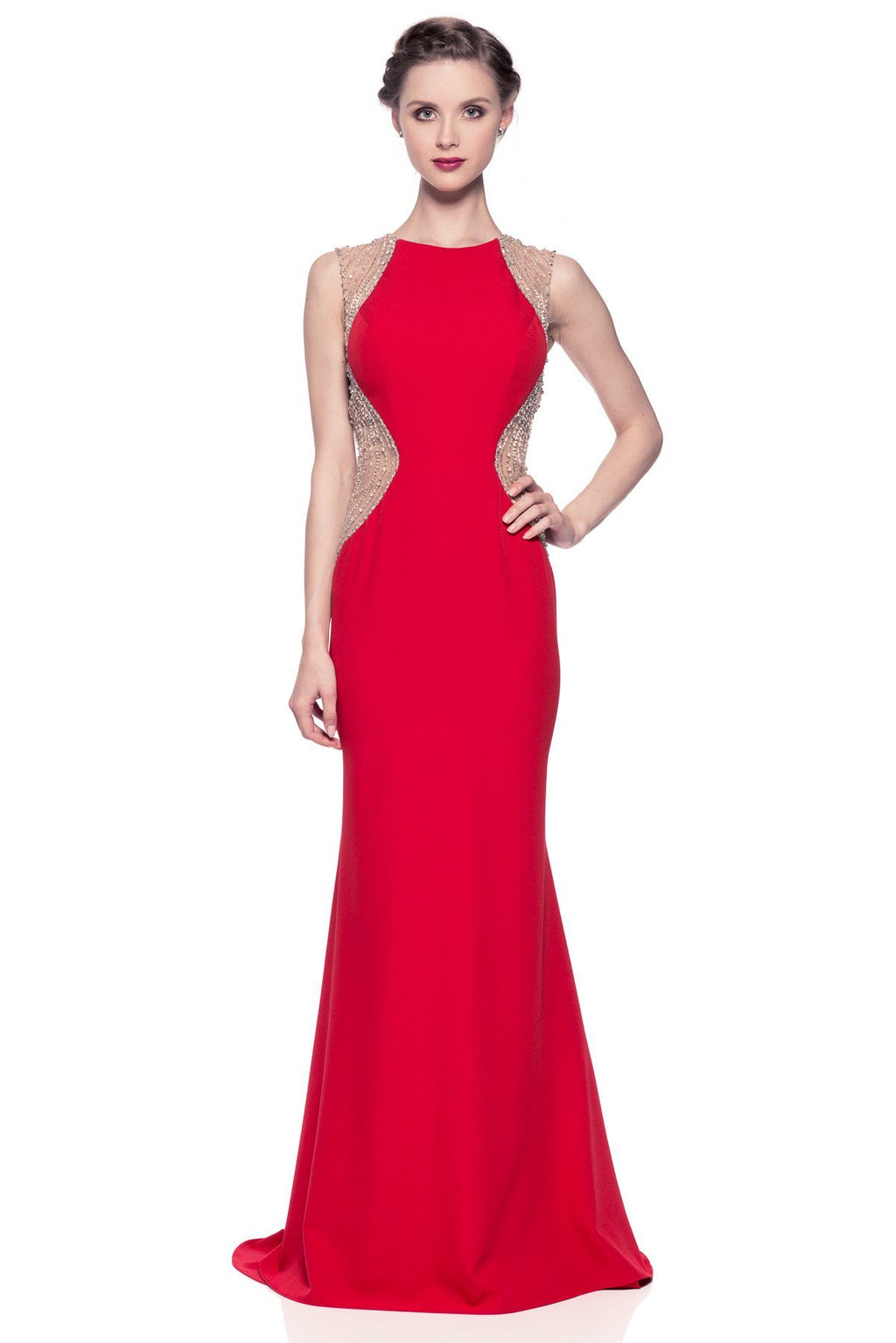 Long Red evening gown & prom dress  BC TR26224 - Simply Fab Dress