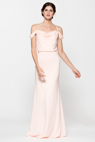 Off the shoulders long chiffon bridesmaid dress BC#TR26336 – Simply ...