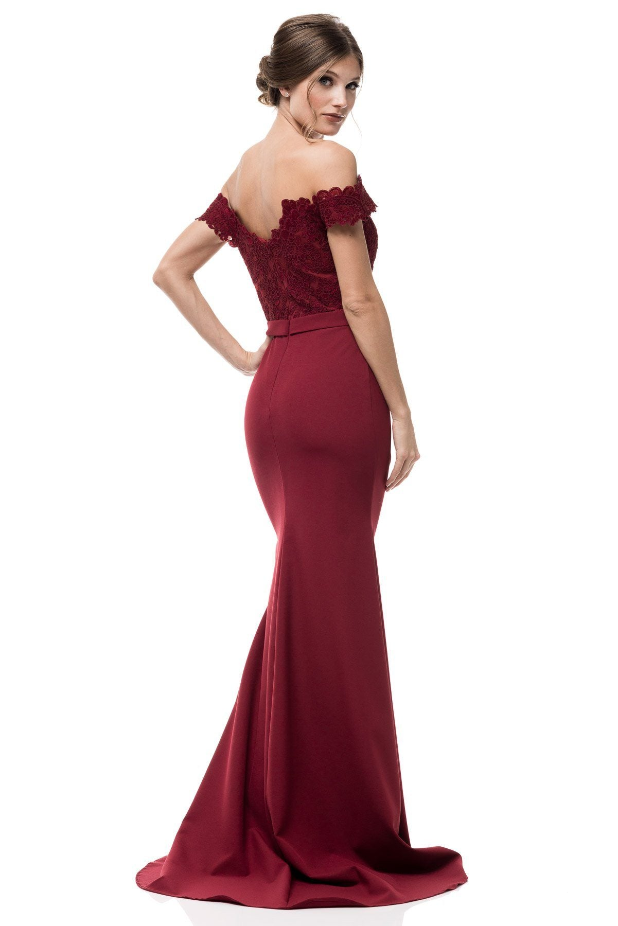 Off the shoulder formal dress #TR77103-Simply Fab Dress