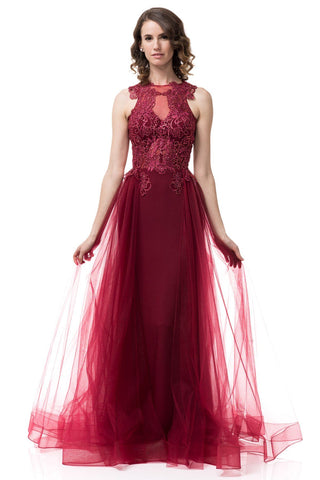 fancy burgundy formal dress #TR77124-Simply Fab Dress