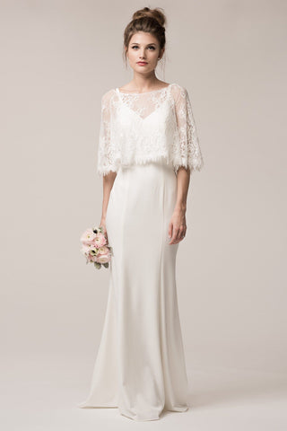 Vintage style simple bohemian wedding dress BC #TRW24606 - Simply Fab Dress
