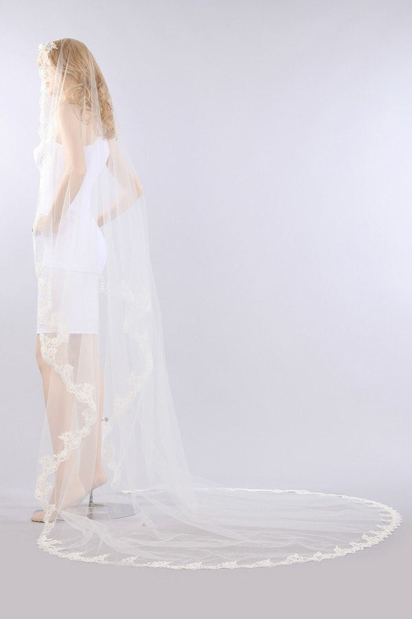 Chapel train wedding Veil  TS067-108 - Simply Fab Dress