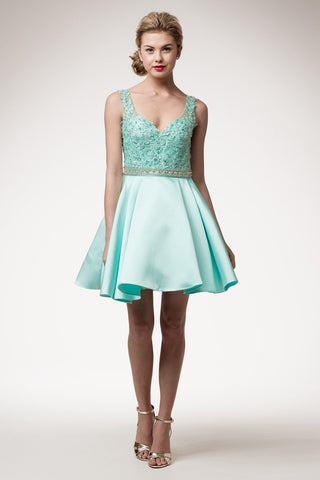 Trendy lace bodice homecoming dress BC#TT1531S-Simply Fab Dress