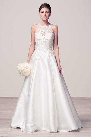 Pearl jewel bodice a-line Ball Gown dress with side pocket BC#TTW1627 - Simply Fab Dress