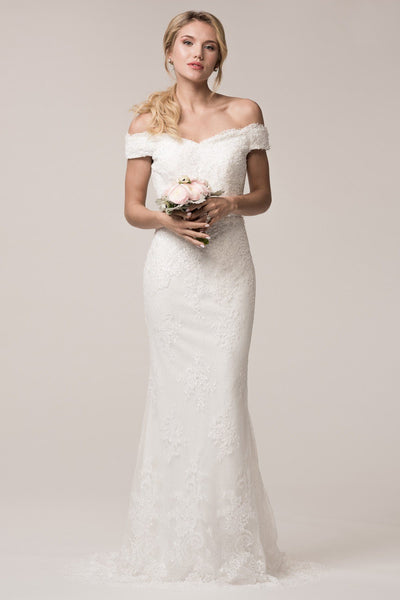 Vintage lace boho wedding dress BC#ttw16334-Simply Fab Dress