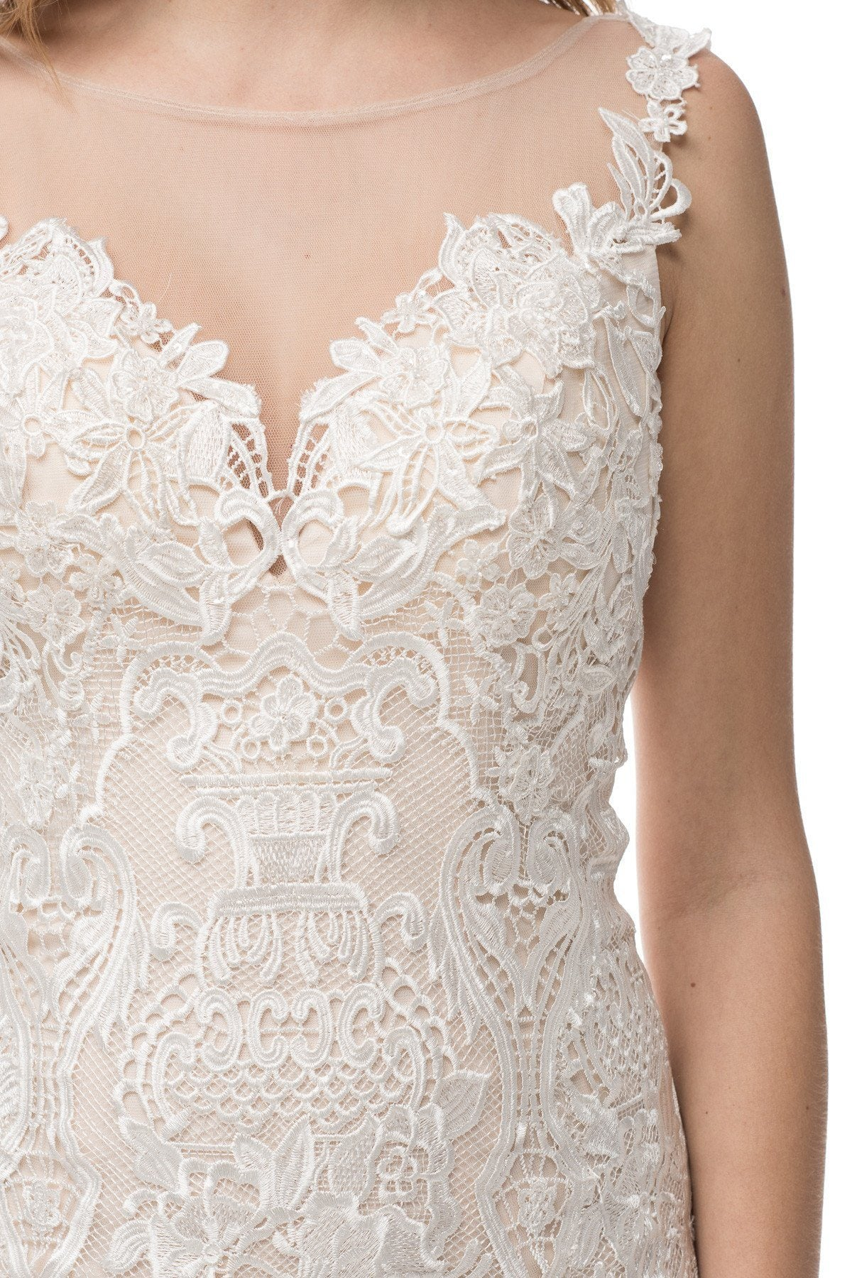 Lace beach wedding dress BC#TTW1641 - Simply Fab Dress