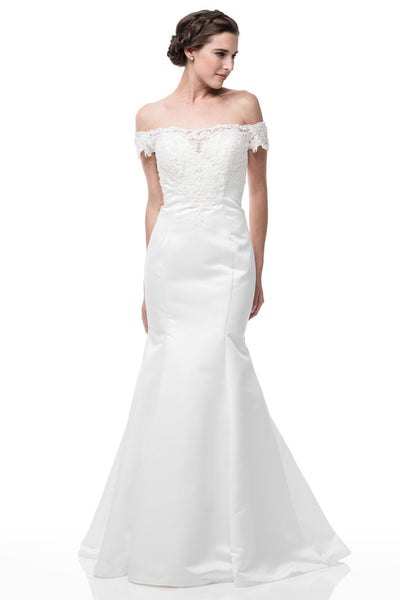 Off the shoulder summer wedding dress BC#TTW6150