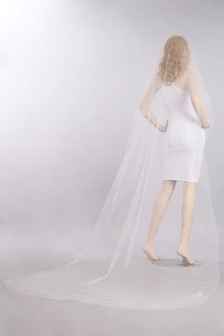 Chapel train wedding Veil  V1057-110 - Simply Fab Dress