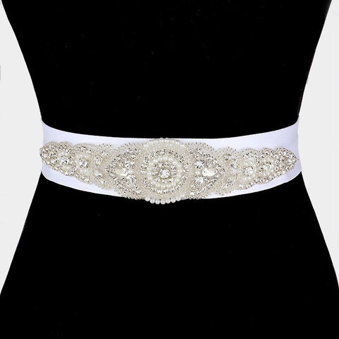 Rhinestone Bridal Belt  325213wb1004 - Simply Fab Dress