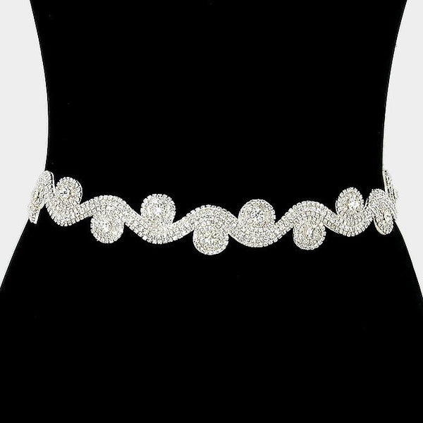 Rhinestone Bridal Belt  304783wb1007 - Simply Fab Dress