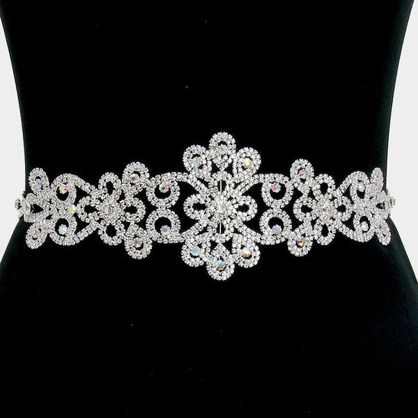 Versatile AB rhinestone wedding belt #wb1558 - Simply Fab Dress