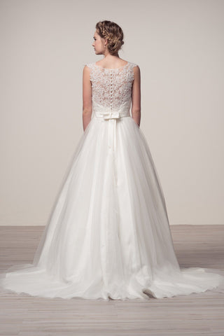 romantic lace bodice a-line ball gown wedding dress BC#wjw150102 - Simply Fab Dress