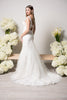 Lace mermaid wedding dress BC#WJW2132 - Simply Fab Dress