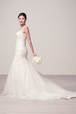 Stunning mermaid wedding dress-mt 225 Affordable wedding dress
