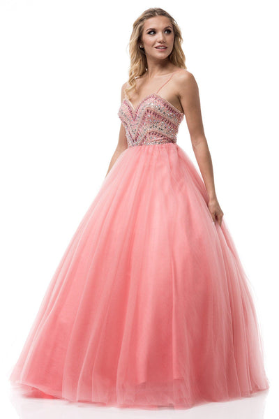 Beaded bodice pink quinceanera dress BC#YD1017 - Simply Fab Dress