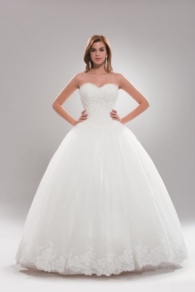 Strapless Princess Ballgown Wedding Dress Plus Size Ab6719 Simply