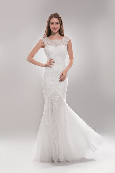 Lace Mermaid Informal Wedding Dress AB7634   Plus Size