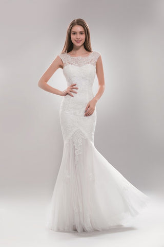 Lace mermaid informal wedding dress AB7634 - Plus size - Simply Fab Dress