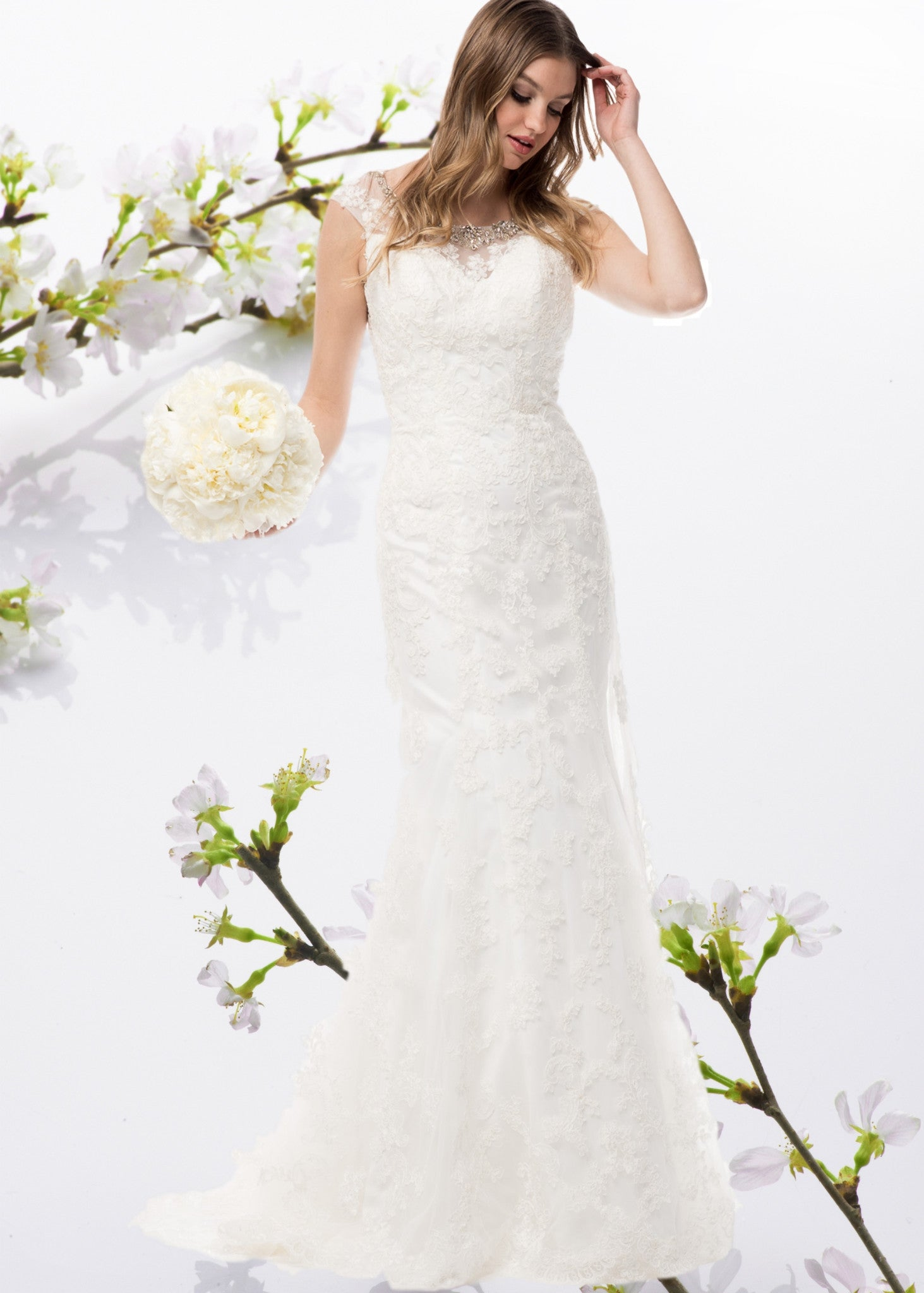 Fit and flare Lace wedding dress – Simply Fab Dress