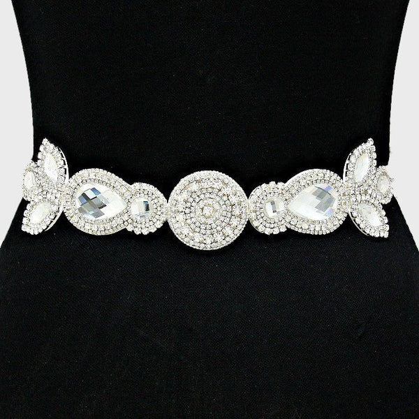 Rhinestone Bridal Belt  282106wb1013 - Simply Fab Dress