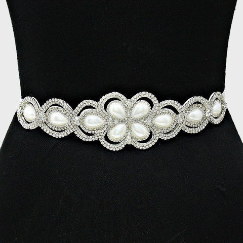 Rhinestone Bridal Belt  282107wb1016 - Simply Fab Dress