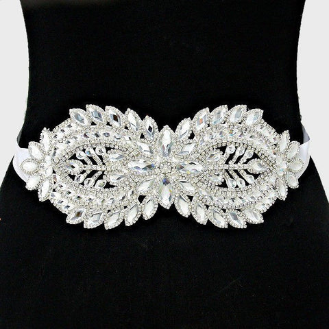 Rhinestone Bridal Belt  282108wb1017 - Simply Fab Dress