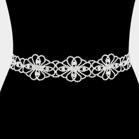 Rhinestone Bridal Belt 312303wb1735 - Simply Fab Dress