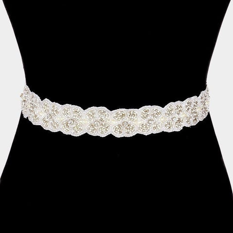 Rhinestone Bridal Belt  318373wb00055 - Simply Fab Dress