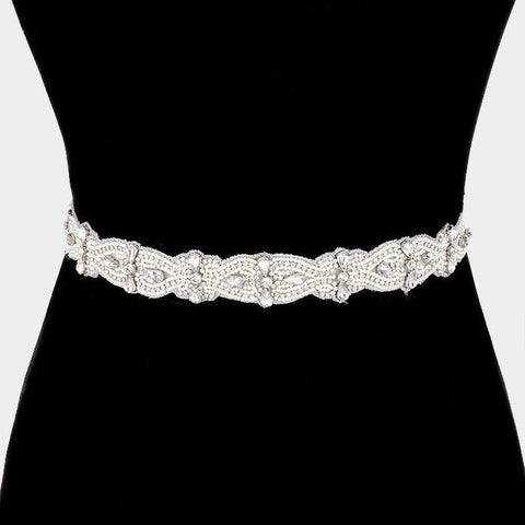 Rhinestone Bridal Belt  318376wb00057 - Simply Fab Dress
