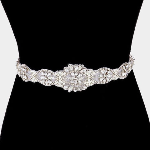 Rhinestone Bridal Belt  318379wb00058 - Simply Fab Dress
