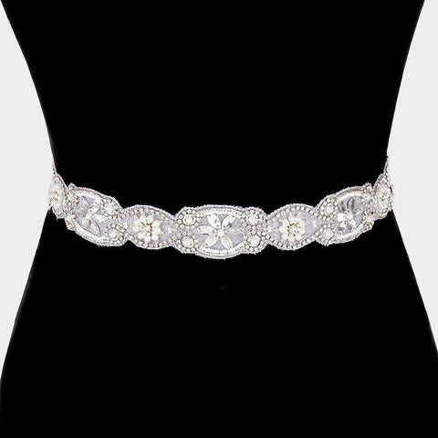 Rhinestone Bridal Belt  318380wb00059 - Simply Fab Dress