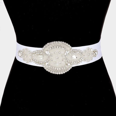 Rhinestone Bridal Belt  [325214] WB1006 - Simply Fab Dress