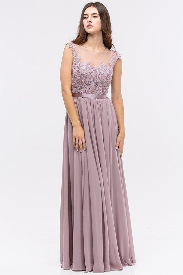 Floor Length Cap Sleeve Bridesmaid Dress Bb Eu 3611 Simply Fab Dress