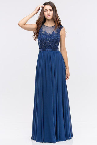 Floor length cap sleeve bridesmaid dress BB EU# 3611 - Simply Fab Dress