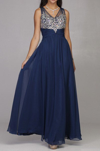 Long bridesmaid dress 105-565 - Simply Fab Dress