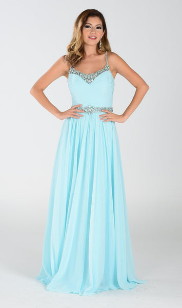 Long Chiffon Bridesmaid Dress   101-7408 - Simply Fab Dress