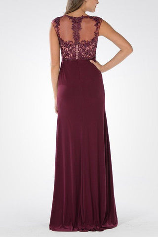 Long chiffon Bridesmaid dress BB 097-600 - Simply Fab Dress