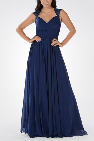 Long chiffon Bridesmaid dress BB 097-602 - Simply Fab Dress