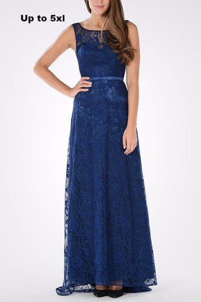 Lace Plus Size Bridesmaid dress BB 097-774 - Simply Fab Dress
